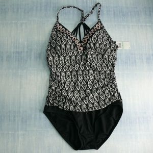 Jantzen 8 Tummy Control One Piece Swimsuit NWT